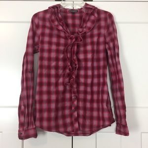 Express • Red, Pink & Gray Button Down